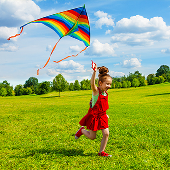 Child with Kite - Pediatric Dentist in Waxahachie, TX