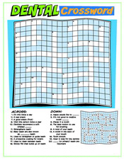 Dental Crossword activity sheet - Pediatric Dentist in Waxahachie, TX