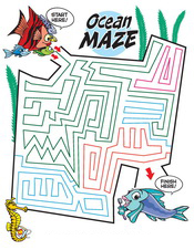 Ocean Maze activity sheet - Pediatric Dentist in Waxahachie, TX